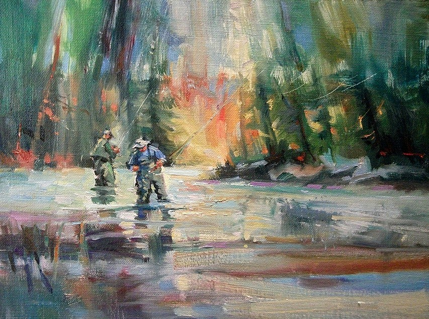 """Horn's Pond - Northern Woodlands magazine"" original fine art by Mary Maxam"