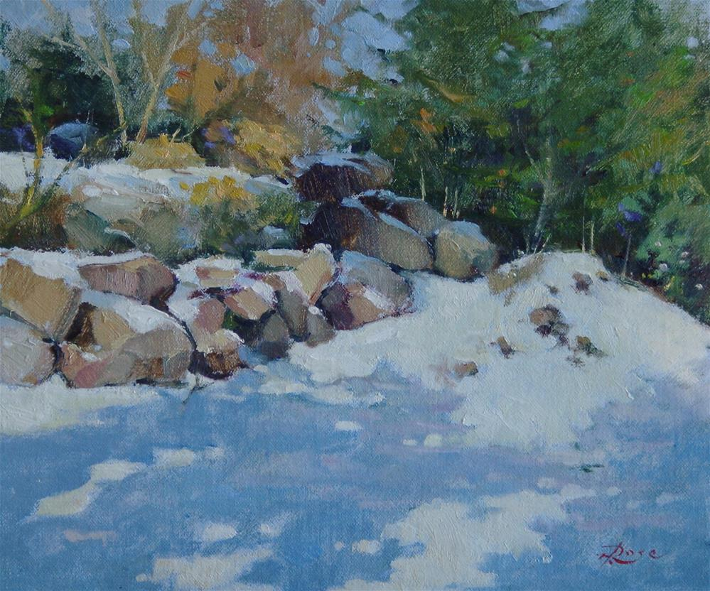 """Roslyn snow"" original fine art by Howard Rose"