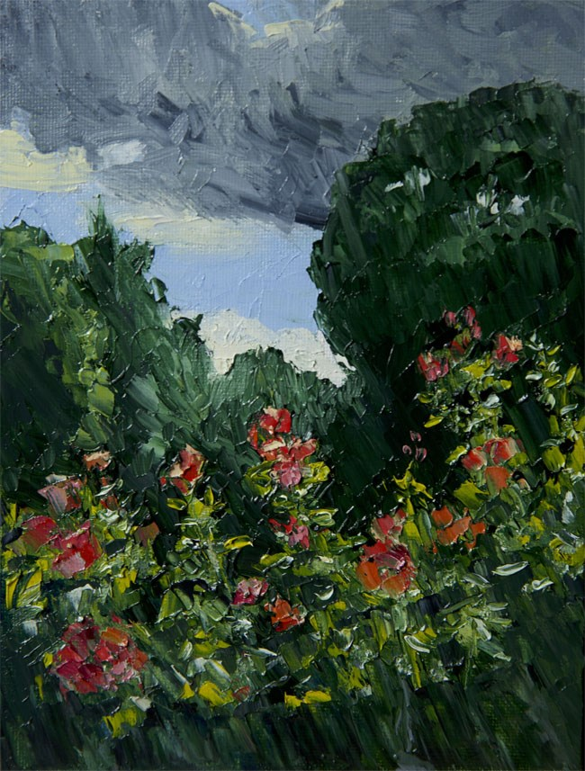 """Kew Roses"" original fine art by Jethro Knight"