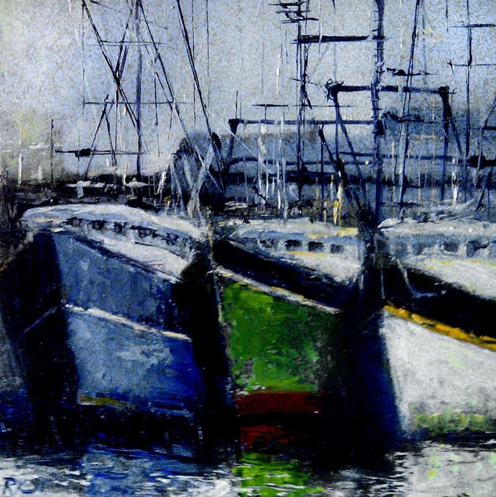 """Three Big Old Boats"" original fine art by Bob Kimball"