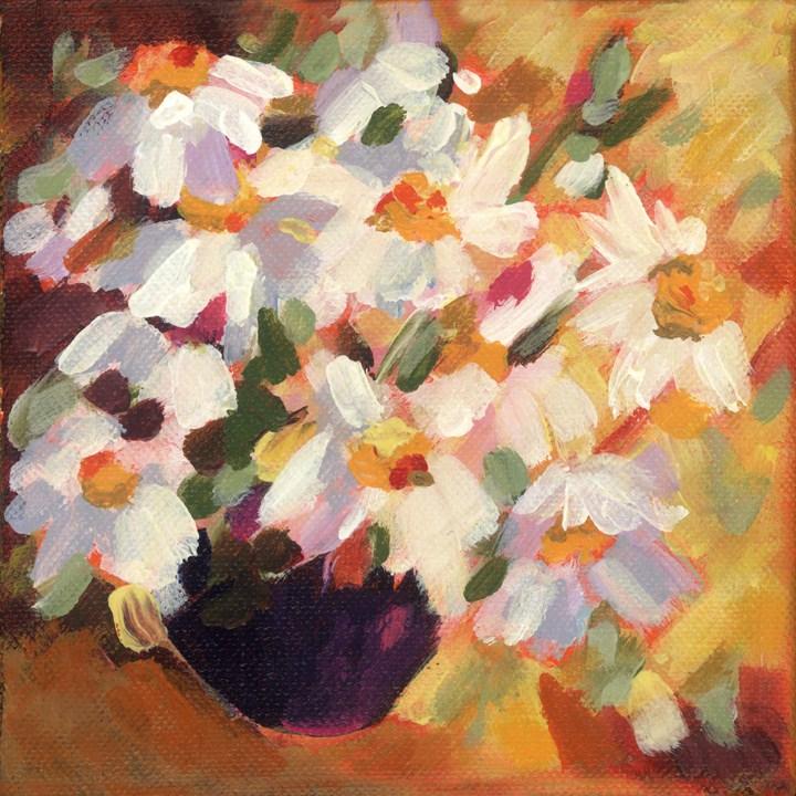 """Delicate Daisies"" original fine art by Pamela Gatens"