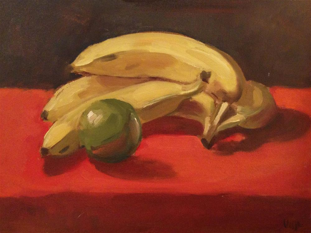 """Bananas"" original fine art by Patty Voje"