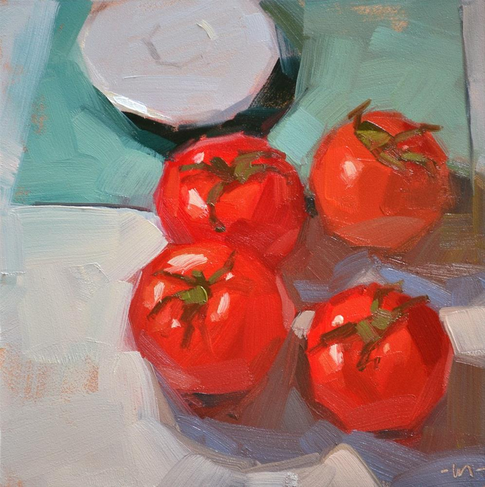 """Tomato Club"" original fine art by Carol Marine"