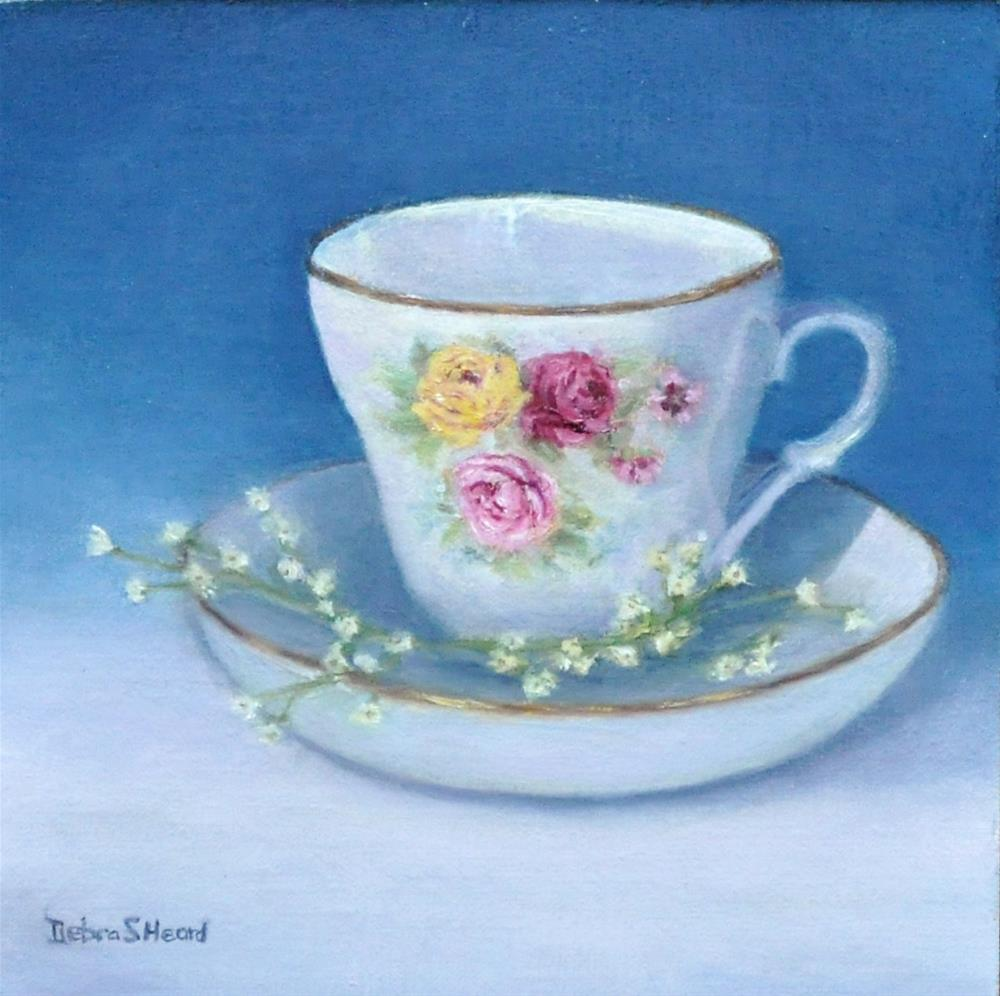"""Grandmothers Teacup"" original fine art by Debra Heard"