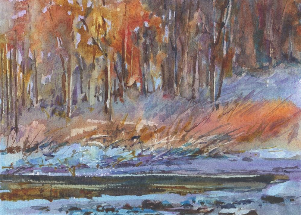 """Fire and Ice"" original fine art by Linda Henry"