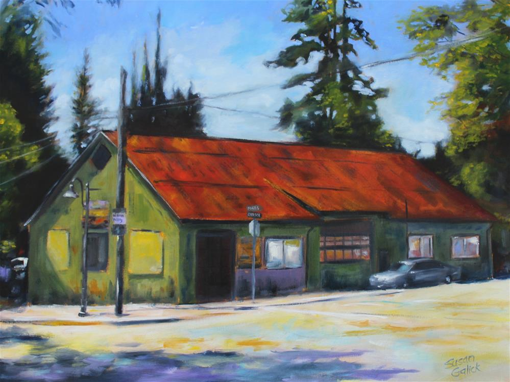 """Reid Building Fort Langley"" original fine art by Susan Galick"
