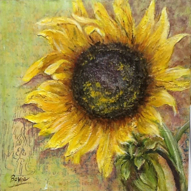 """Van Gogh's Letters"" original fine art by Maureen Bowie"