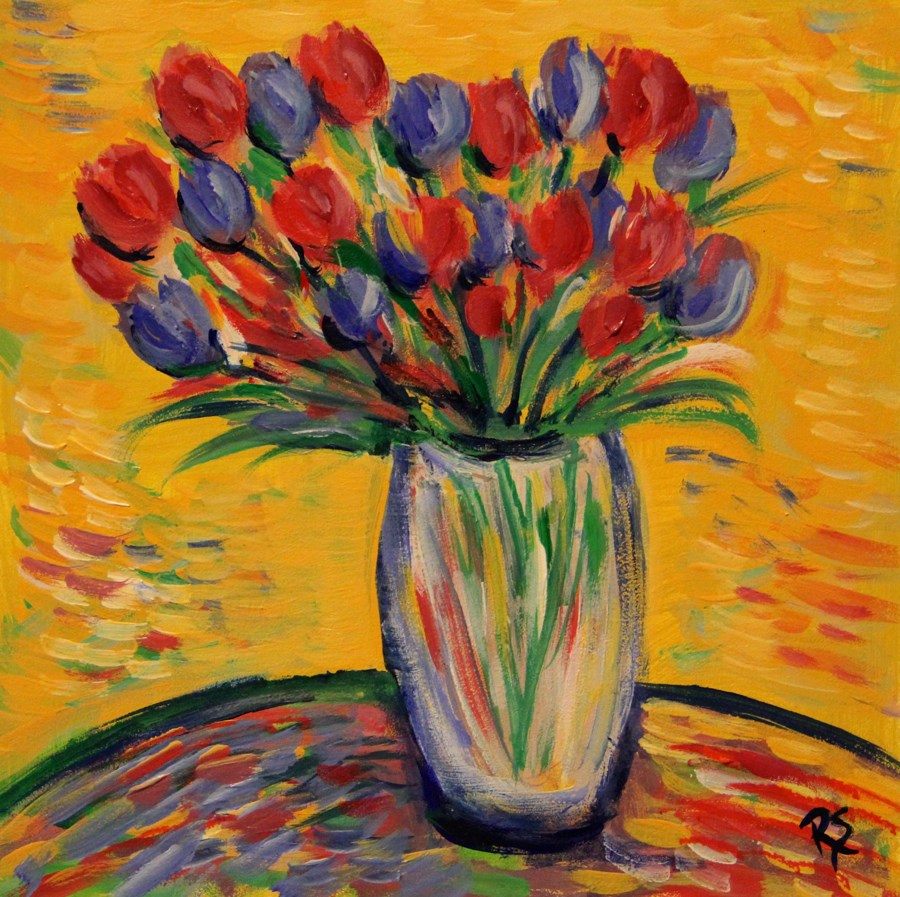 """Spring Bouquet"" original fine art by Roberta Schmidt"