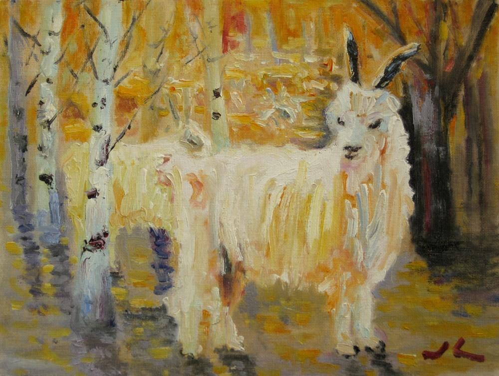"""""""Sheep"""" original fine art by Julia Lu"""