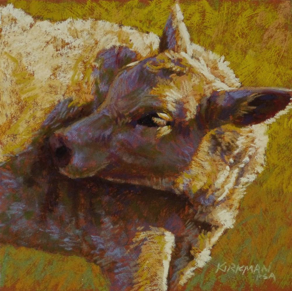 Golden original fine art by Rita Kirkman