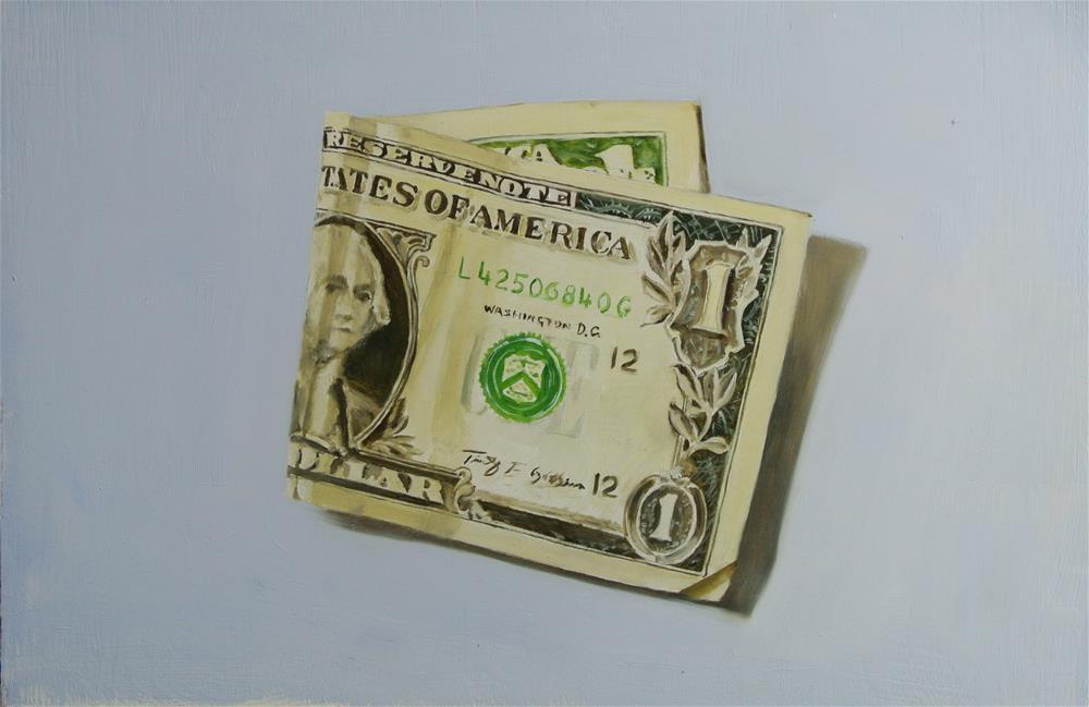 """Dollar Bill"" original fine art by James Coates"