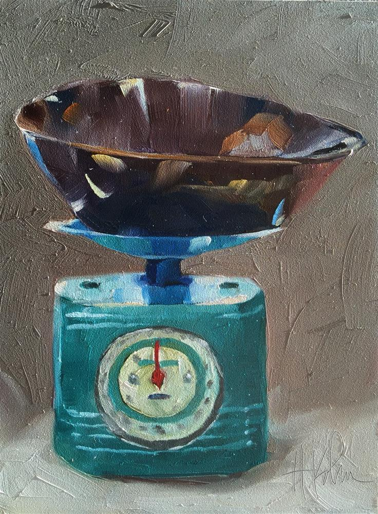 """Retro Scale"" original fine art by Hallie Kohn"
