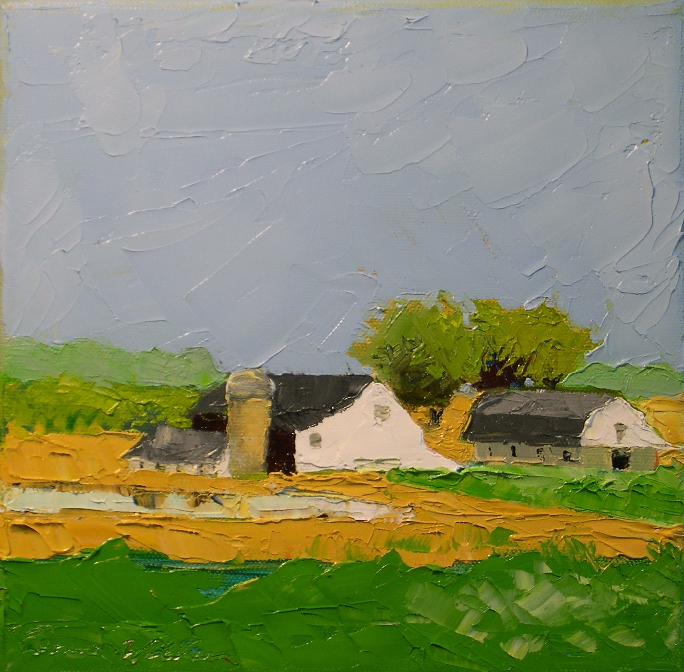 """Farmland"" original fine art by Donna Walker"