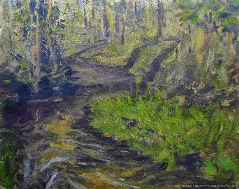 """""""Forreststream Winterswijk, The Netherlands"""" original fine art by René PleinAir"""