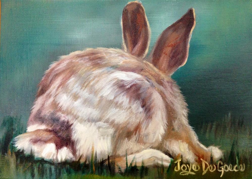 """""""Bunny's Tail Tale by Joye DeGoede"""" original fine art by Joye DeGoede"""