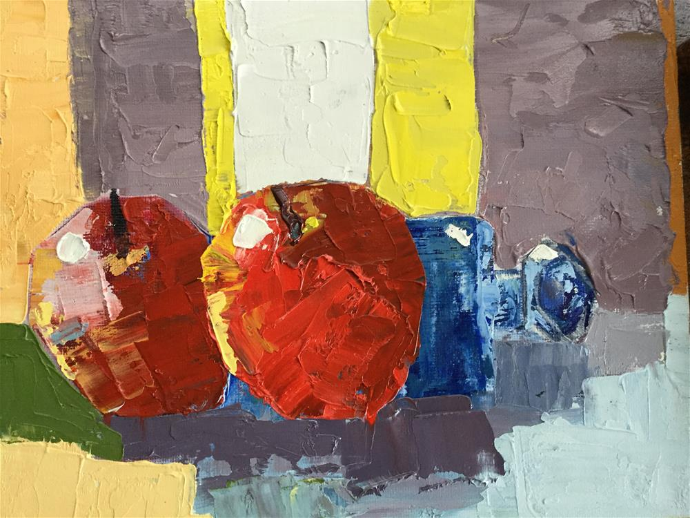 """""""Bottled up with apples"""" original fine art by pamela kish"""