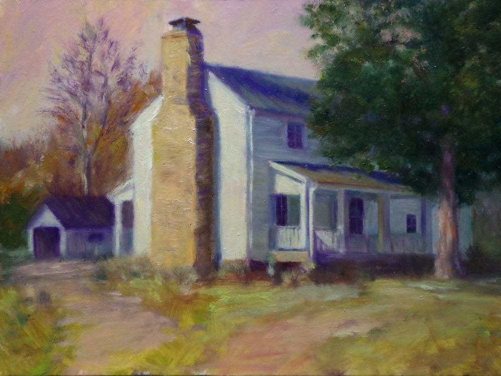"""Ye Olde Homestead"" original fine art by Marilyn R. Place"