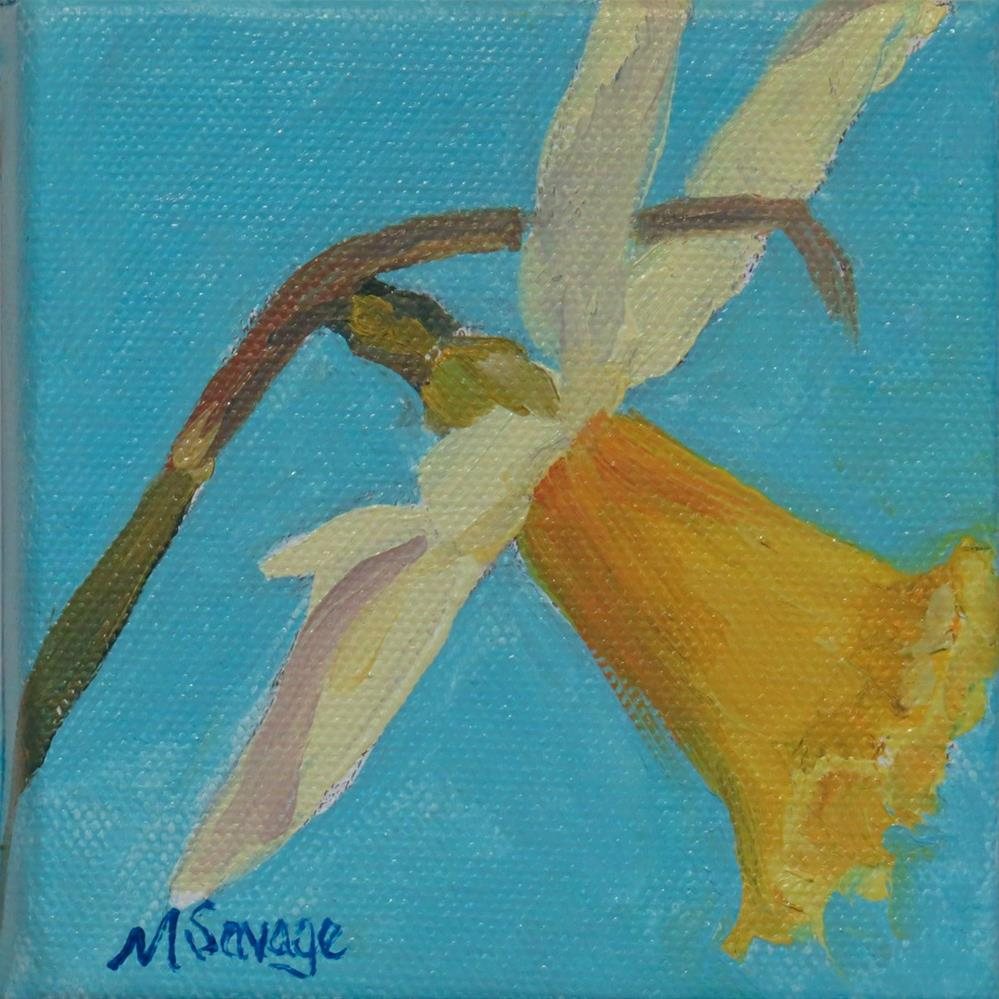 """Aqua and Daffodil"" original fine art by Marsha Savage"