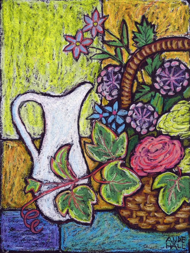 """White Pitcher"" original fine art by Ande Hall"