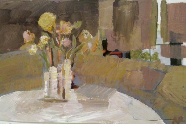 """""""A Little Room"""" original fine art by Ann Rudd"""