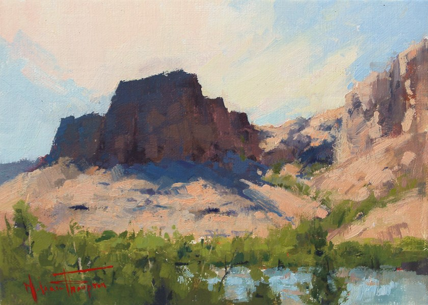 """Colorado River Shores"" original fine art by Melanie Thompson"