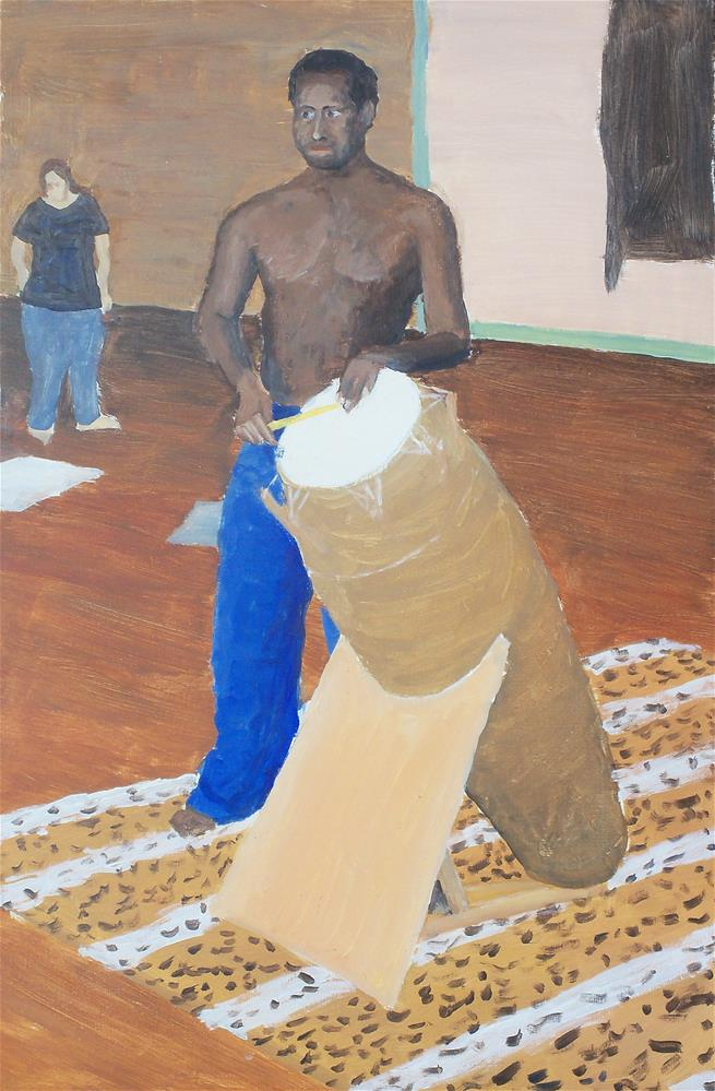 """African Drummer"" original fine art by Greg Arens"