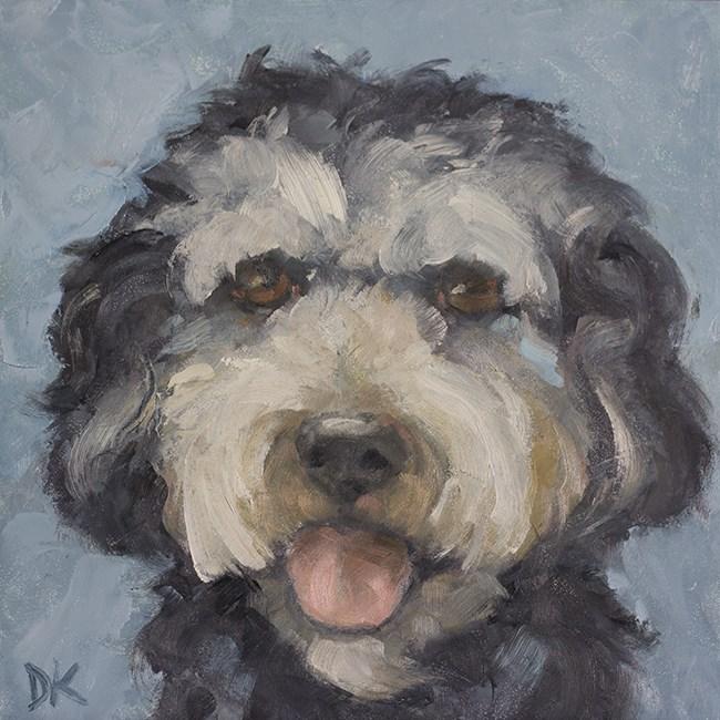 """Dog Days of Summer - Shep - Dog Portrait by Deb Kirkeeide"" original fine art by Deb Kirkeeide"