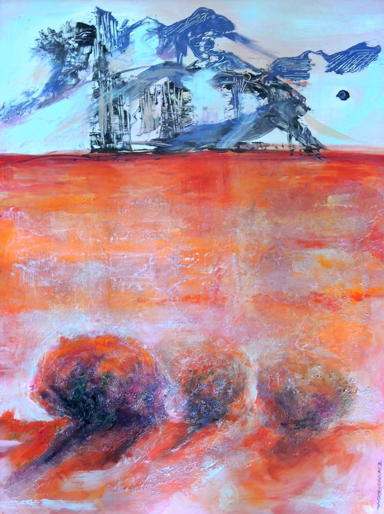 """Mountains Beyond"" original fine art by Mary Schiros"