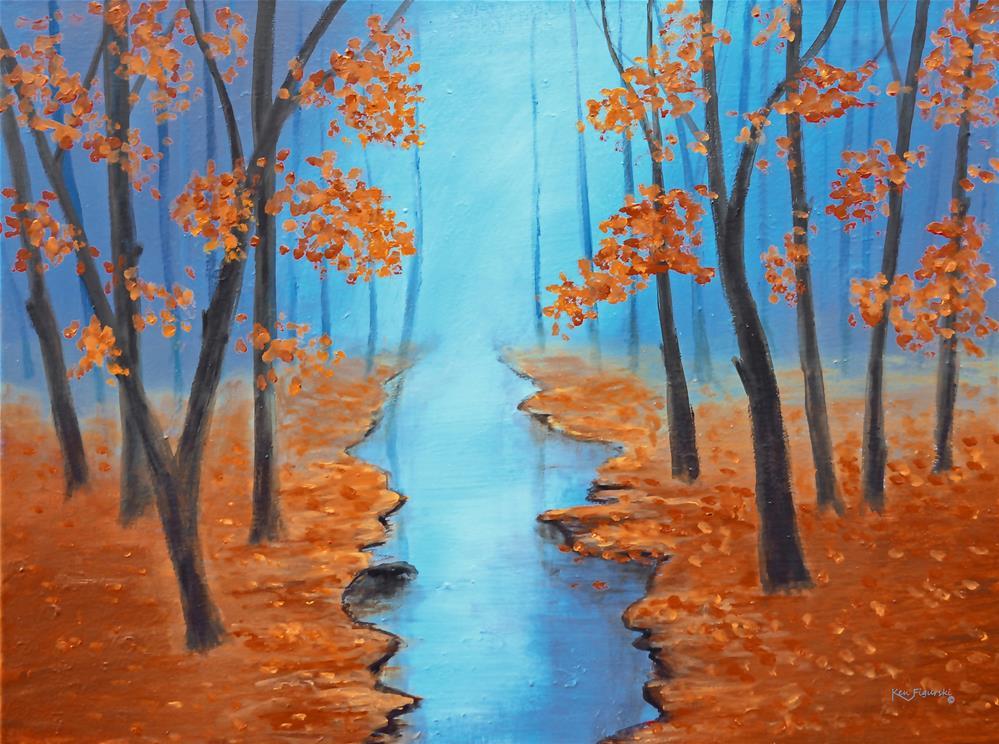 """""""Cool Warmth Of Autumn"""" original fine art by Ken Figurski"""