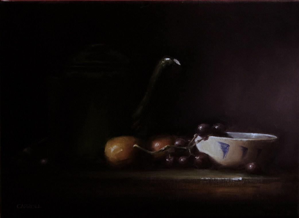 """White Bowl"" original fine art by Neil Carroll"