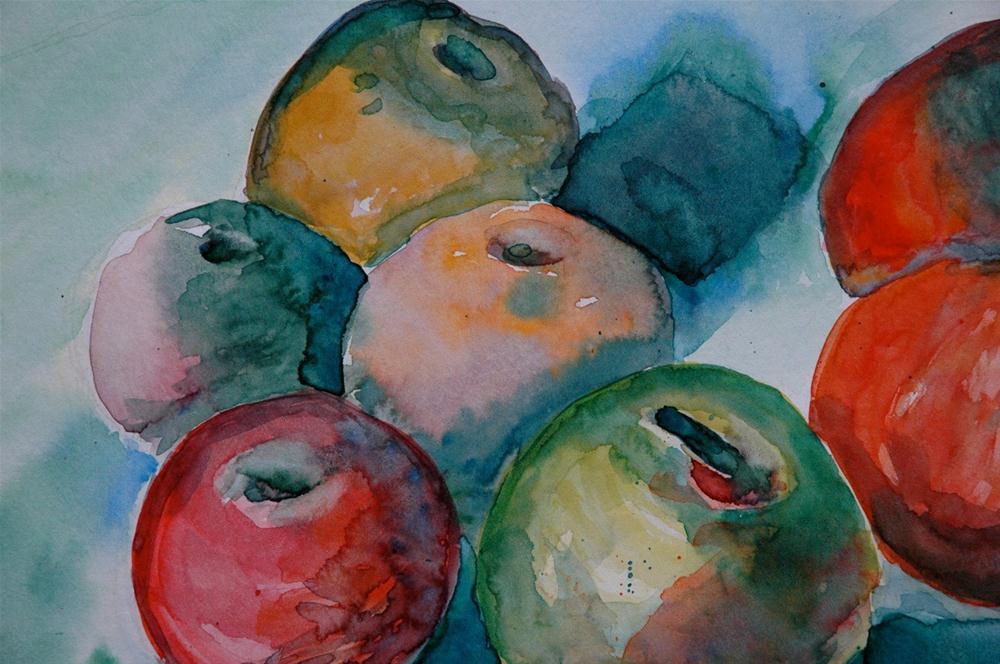 """Apples"" original fine art by Ulrike Schmidt"
