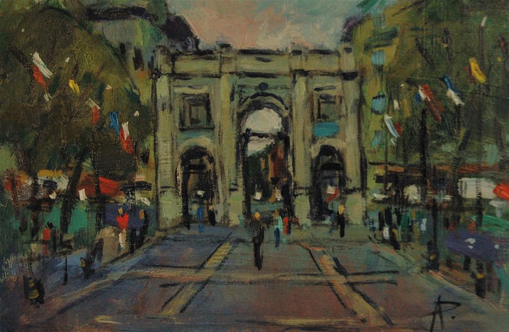 """""""Marble Arch"""" original fine art by Andre Pallat"""