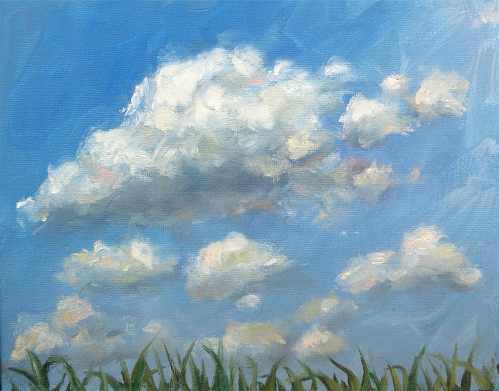"""Clouds and Corn Tips"" original fine art by Connie Andrews"