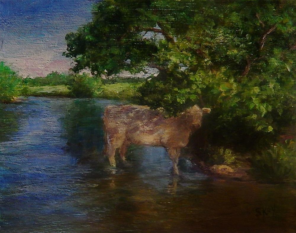 """""""Cooling Off"""" original fine art by Sharon Kay Baker"""