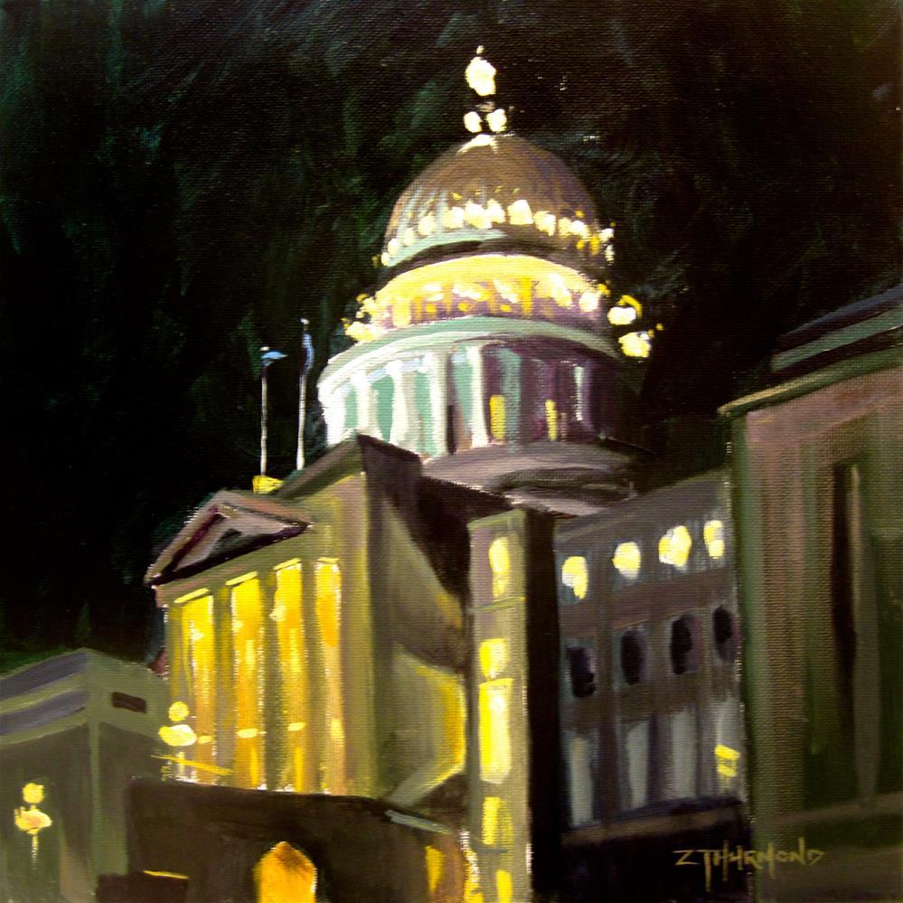 """Capitol Nocturne"" original fine art by Zack Thurmond"
