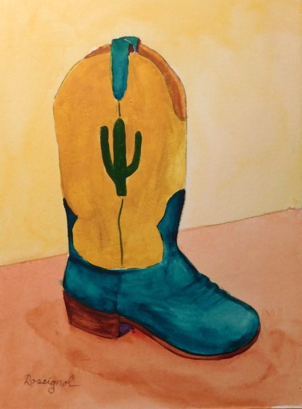 """The Cactus Kid"" original fine art by Norm Rossignol"