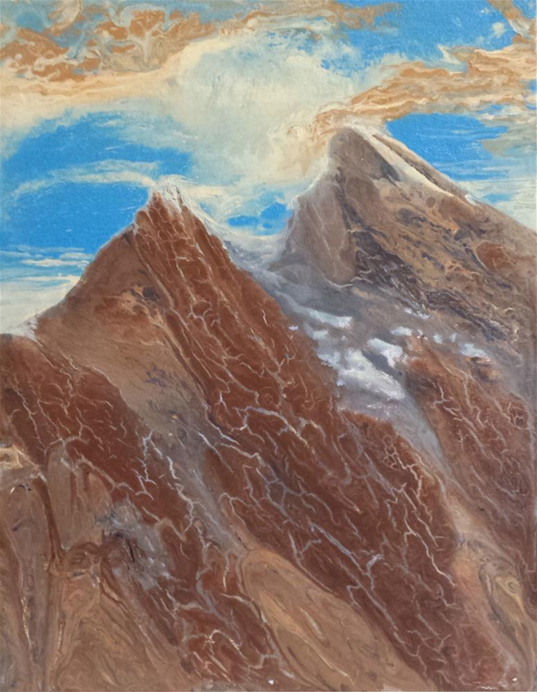"""Liquid Peaks"" original fine art by Amanda Stacey"