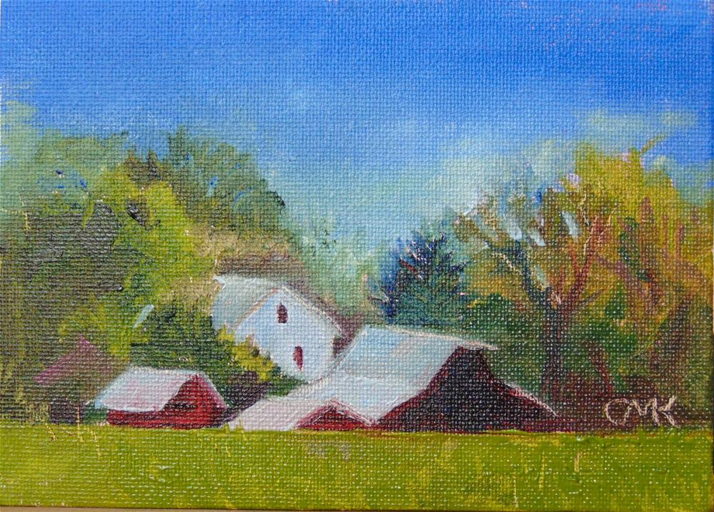 """Over the Hill"" original fine art by Catherine Kauffman"