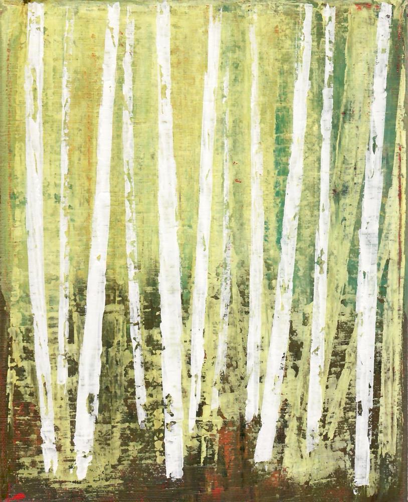"""Forest Sunlight"" original fine art by Sage Mountain"