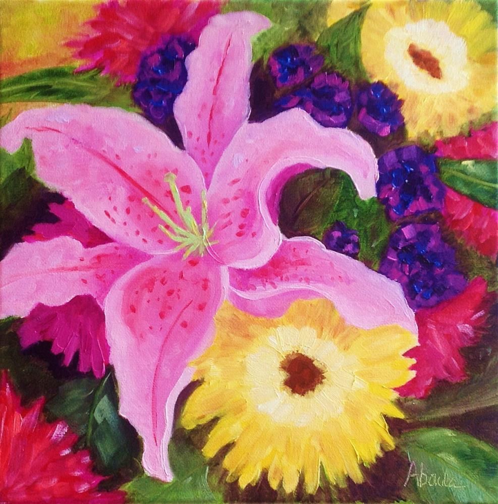 """""""Summer Bouquet"""" original fine art by Sandy Abouda"""
