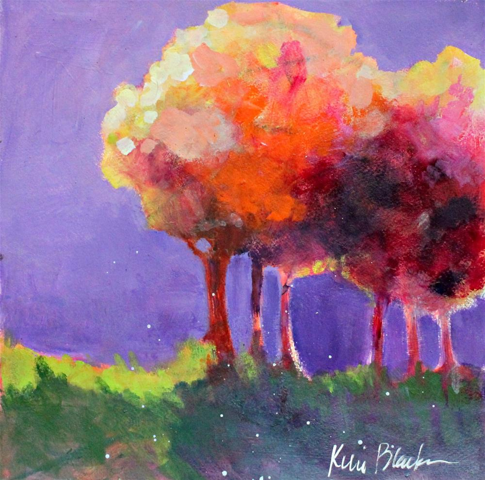 """Fall Trees "" original fine art by Kerri Blackman"
