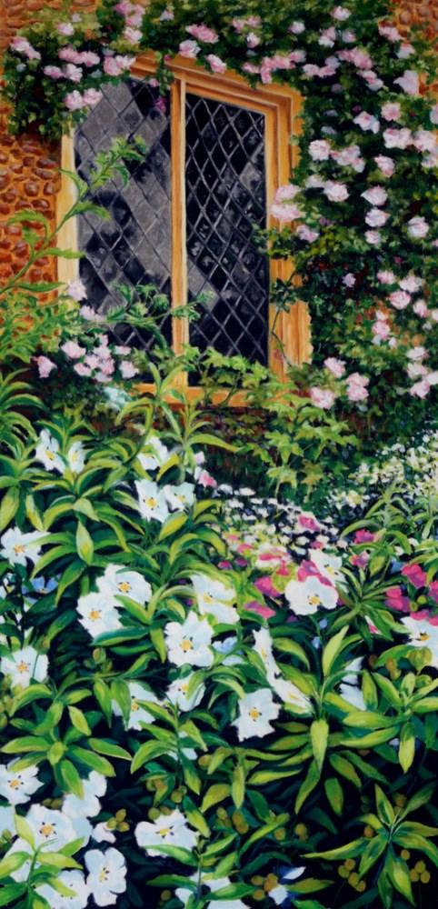 """Repunzel's Window"" original fine art by Jill Bates"