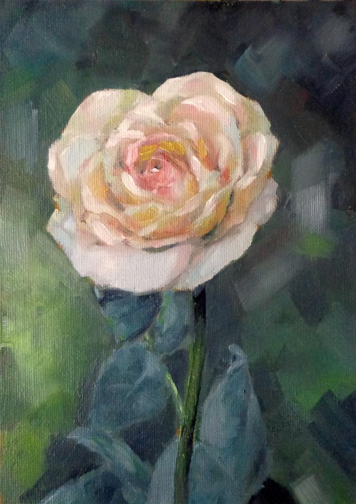 """Rose"" original fine art by Maria Z."