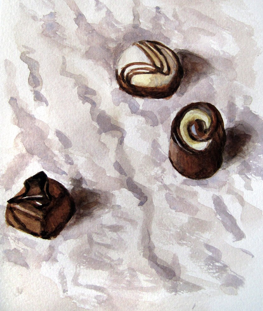 """Chocolates"" original fine art by Ulrike Miesen-Schuermann"