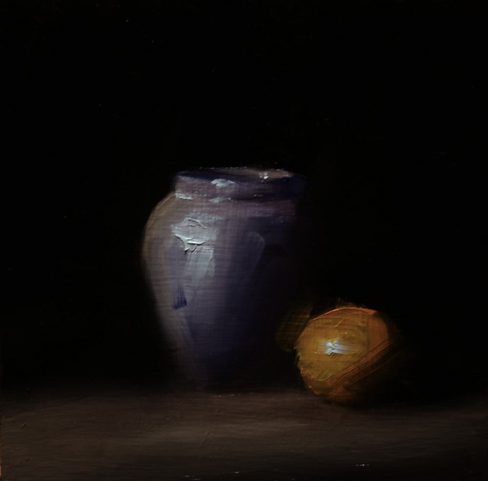 """Small Blue Vase"" original fine art by Neil Carroll"