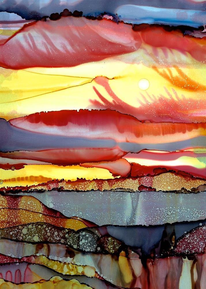 """Lilac Pool"" original fine art by Karen Wysopal"