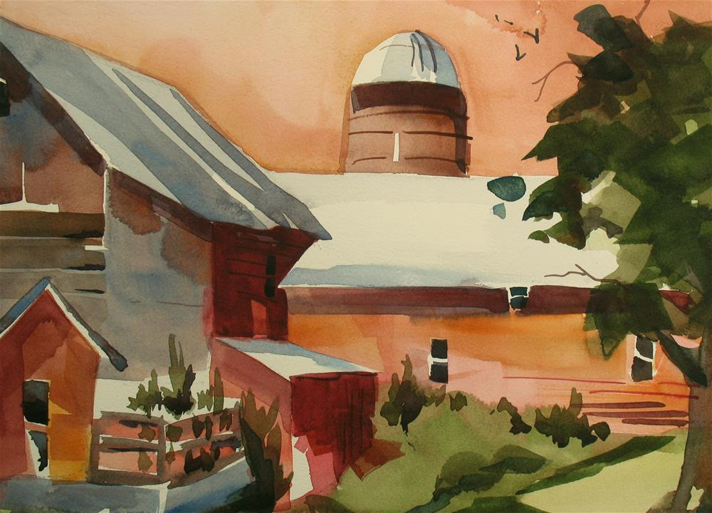 """Greenville Farm"" original fine art by Jinnie May"