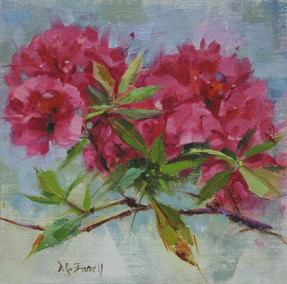 """In Mom's Garden #3"" original fine art by Donna C Farrell"