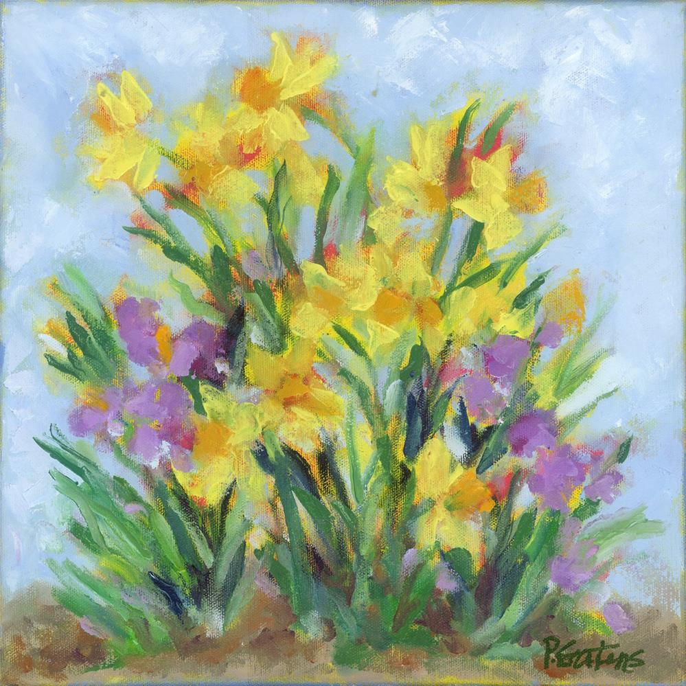 """Petite Daffodils"" original fine art by Pamela Gatens"