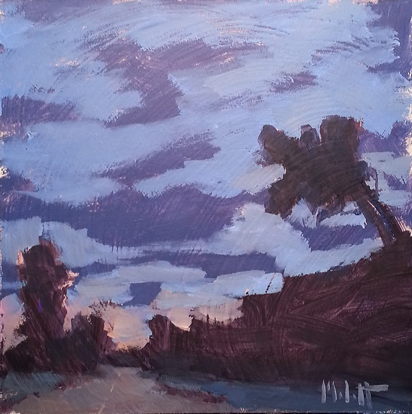 """Twilight Silhouettes Original Artwork"" original fine art by Heidi Malott"